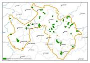 Karte Vorkommen der mageren Flachland-Mähwiesen
