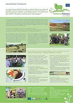 Poster zum Thema Unterstützung der Schäfer im Rahmen des LIFE Projektes Wetterauer Hutungen